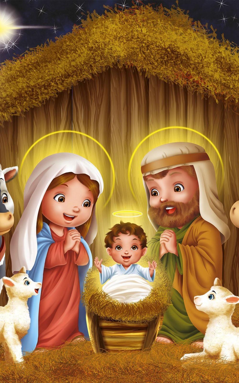 Download Christmas Jesus Born Artwork Free Pure 4k Ultra Hd