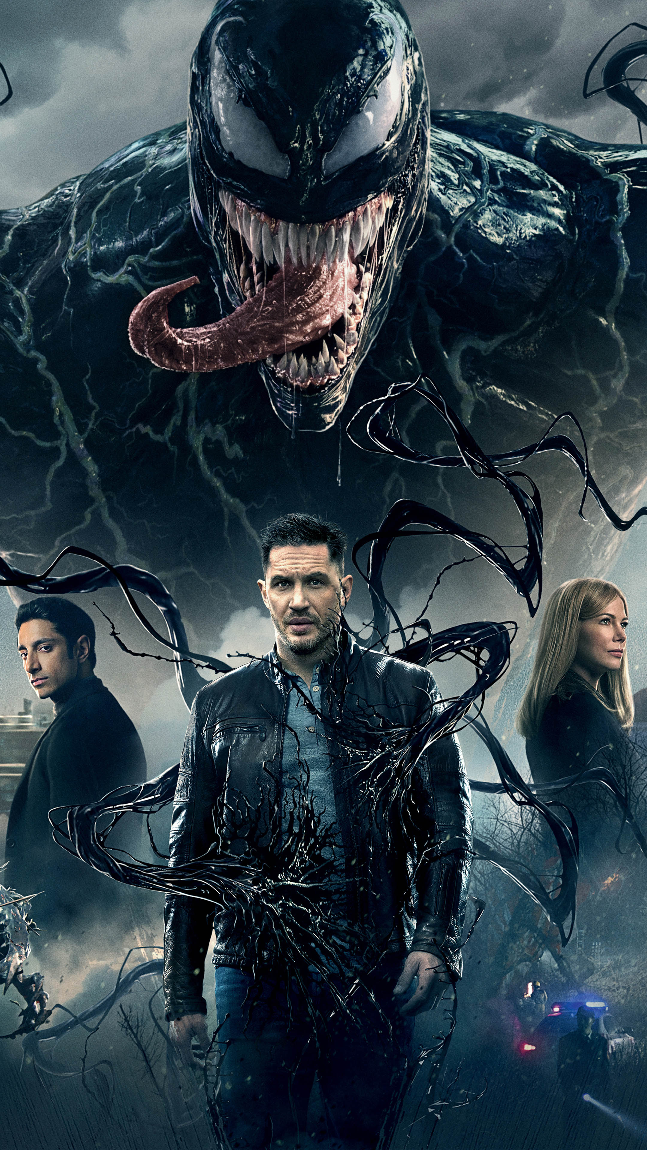 Download Tom Hardy Michelle Williams Riz Ahmed In Venom Free Pure 4k