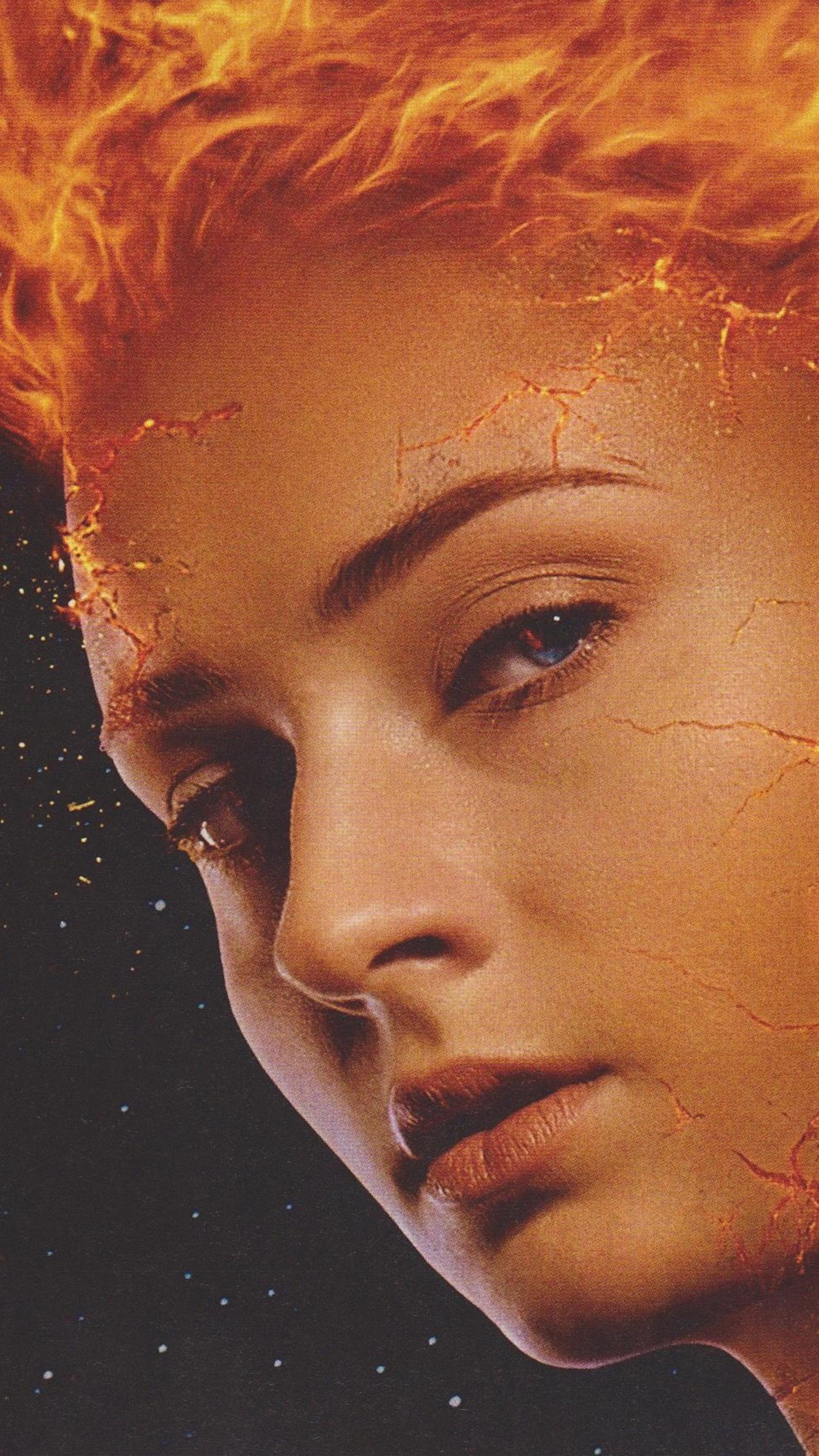 Sophie Turner In X Men Dark Phoenix Flame 4k Ultra Hd Mobile Wallpaper