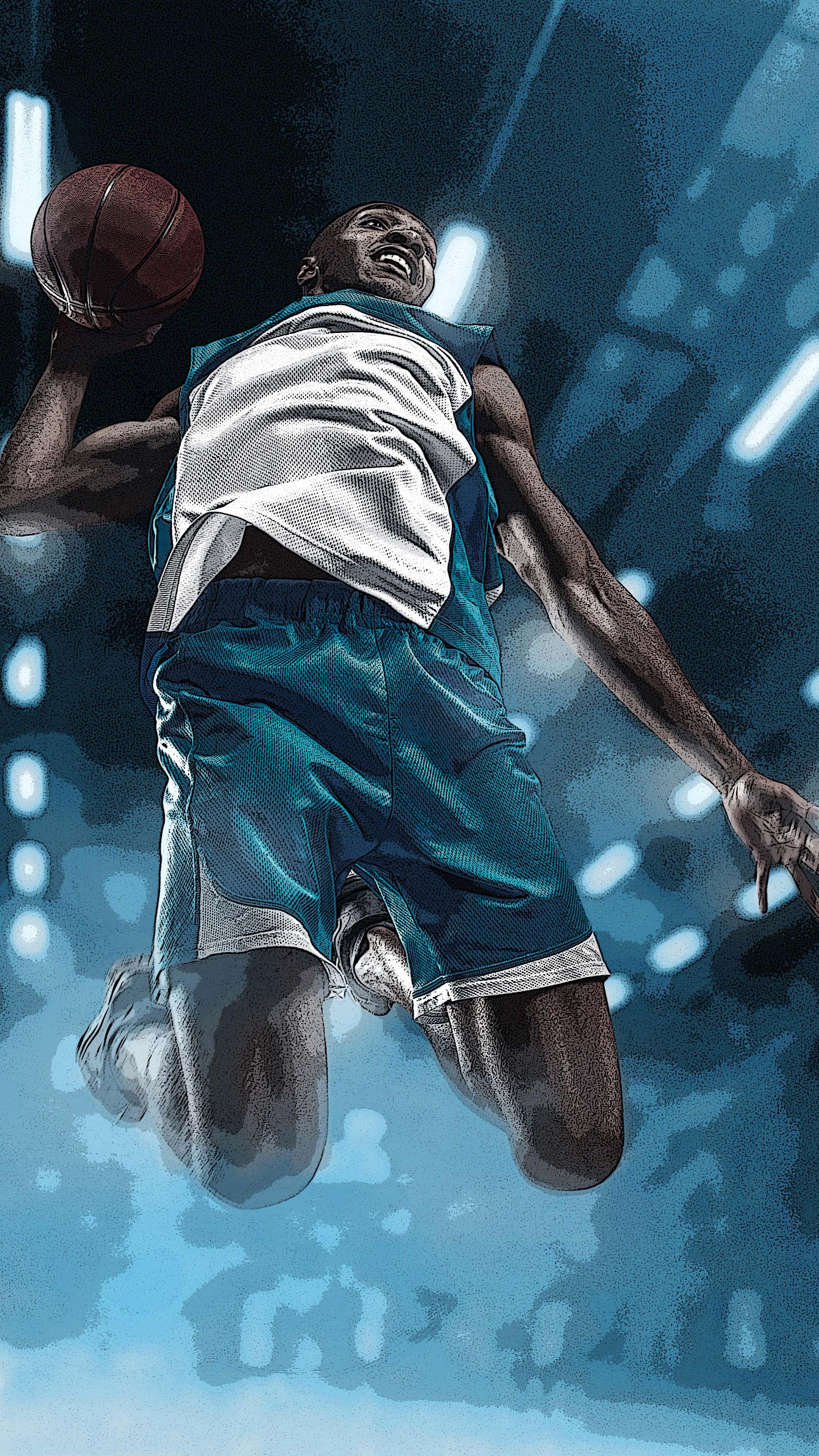Basketball Sports Artwork Free 4k Ultra Hd Mobile Wallpaper