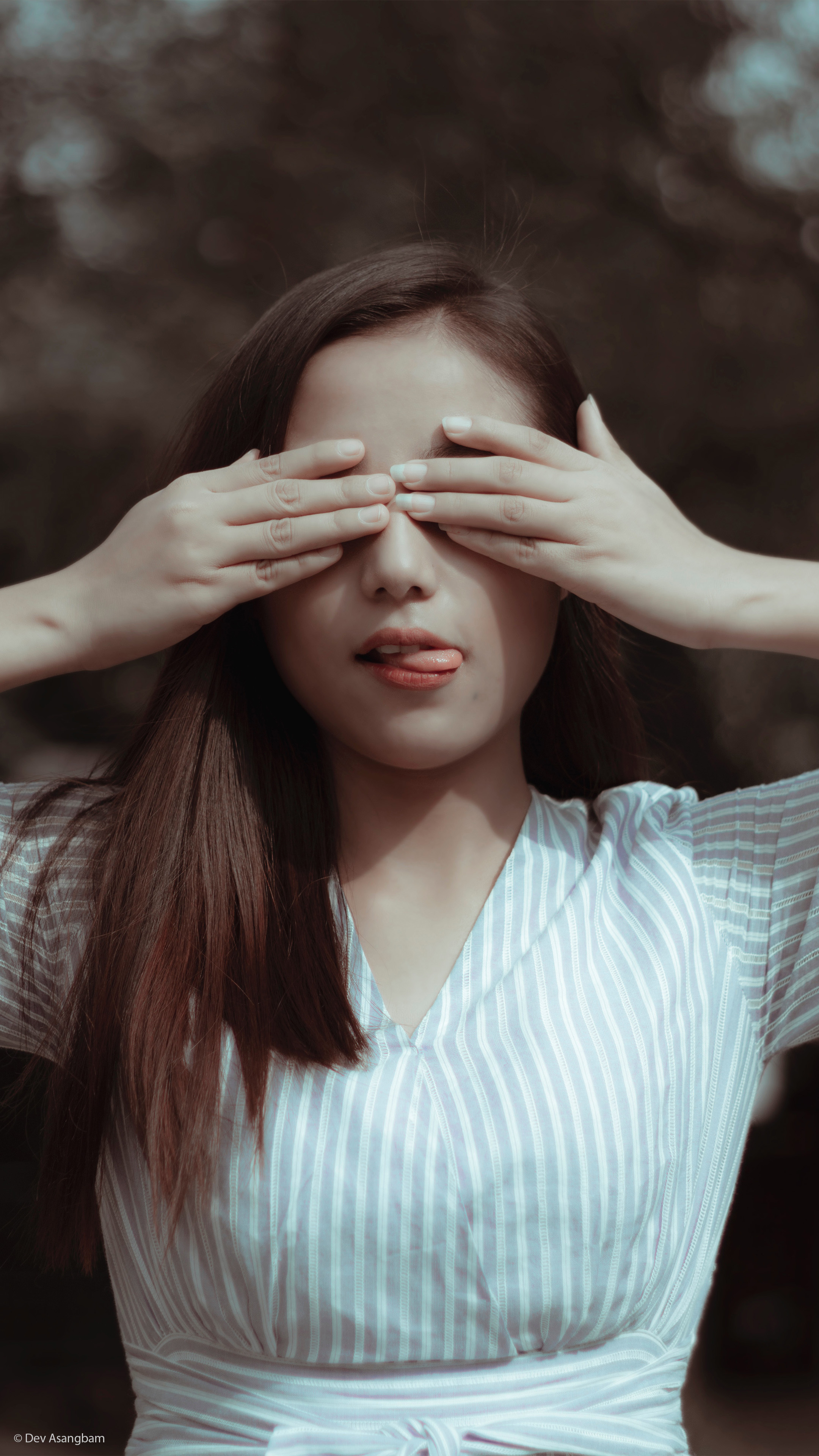 North East Girl Closing Eyes With Hand 4k Ultra Hd Mobile Wallpaper