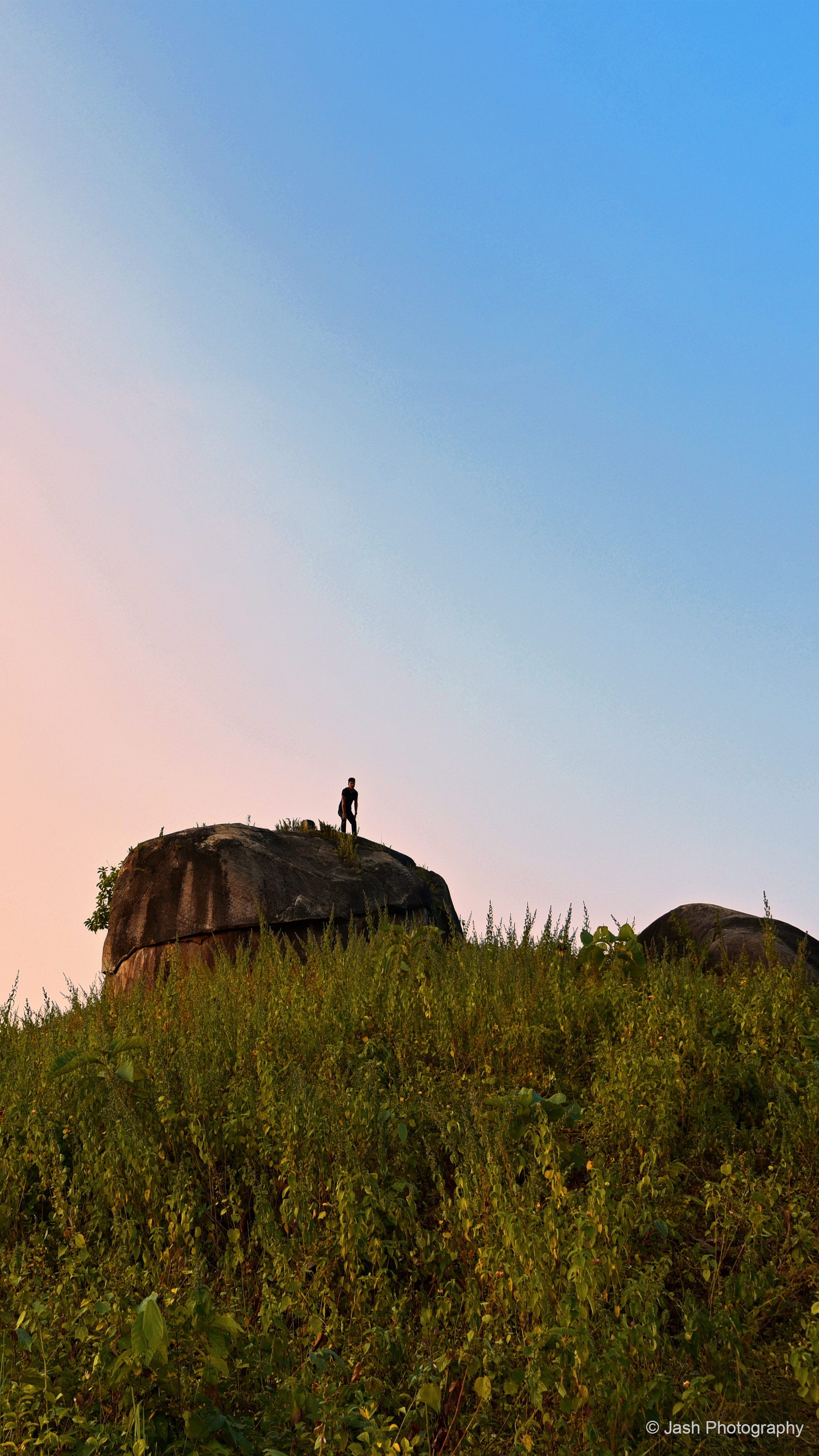 Man On Rock Landscape Photography 4k Ultra Hd Mobile Wallpaper