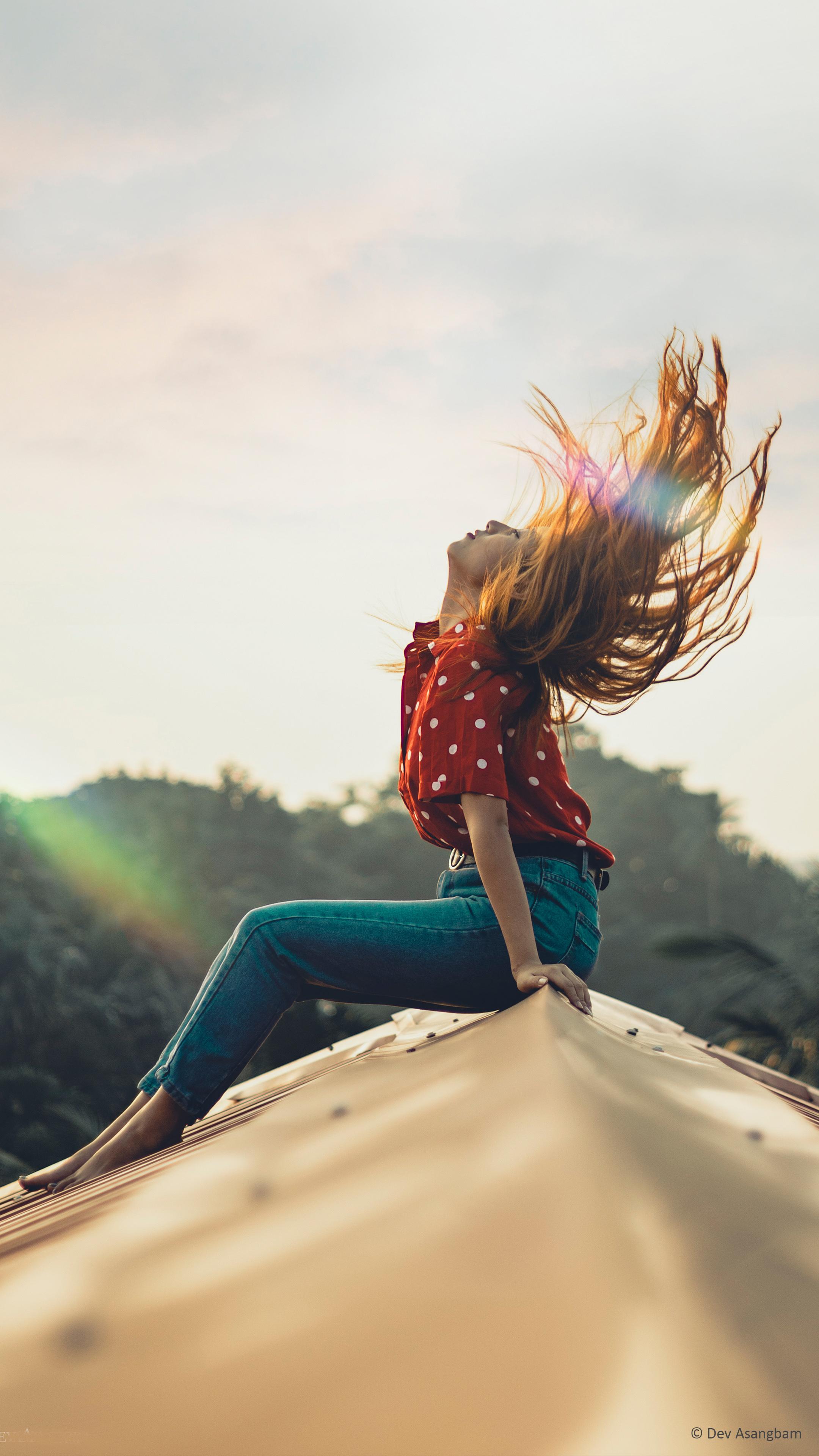 Girl Hair Flip Sunray Photography 4k Ultra Hd Mobile Wallpaper