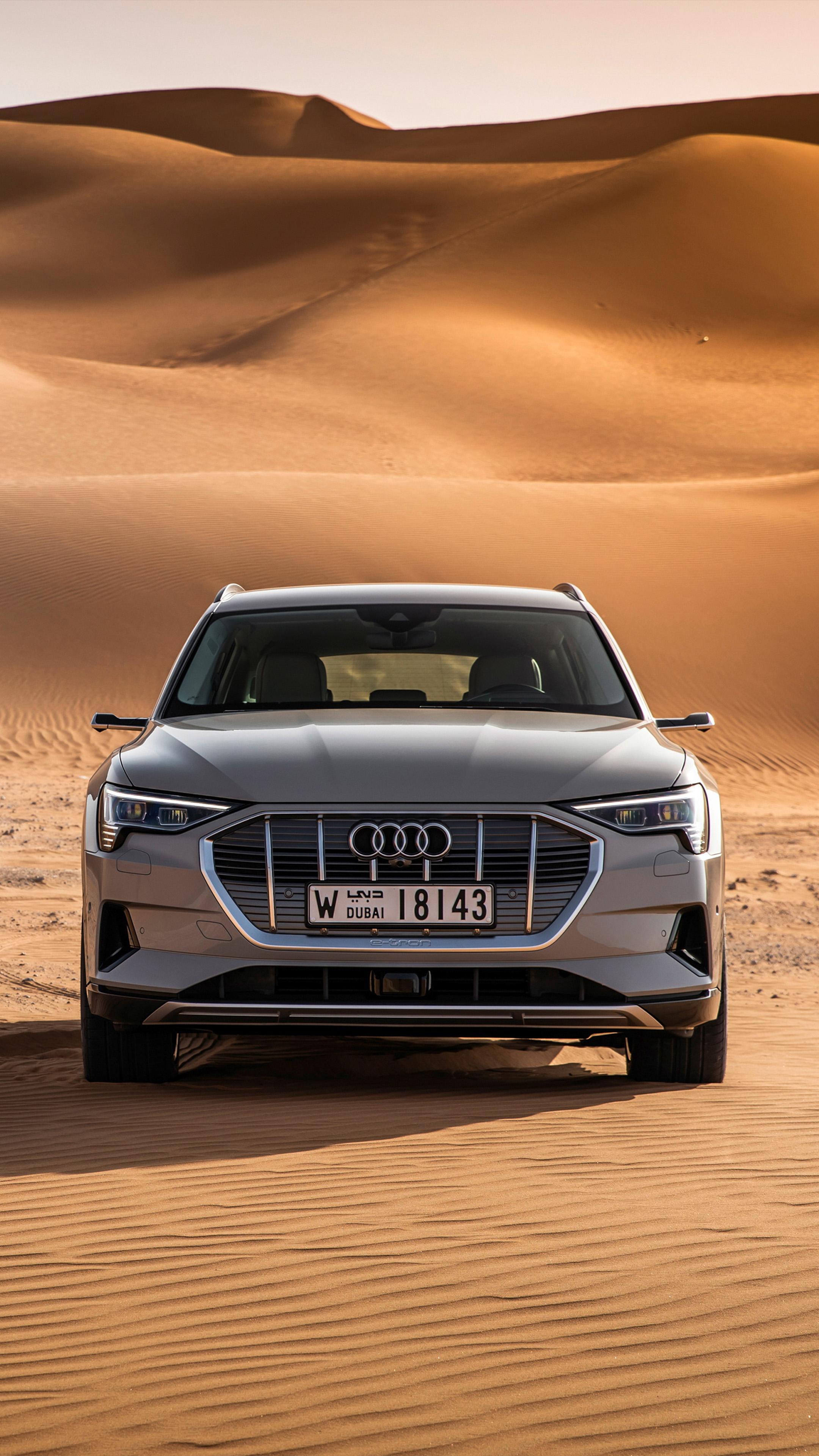 Download Audi E Tron 55 Quattro Dubai Desert Free Pure 4K