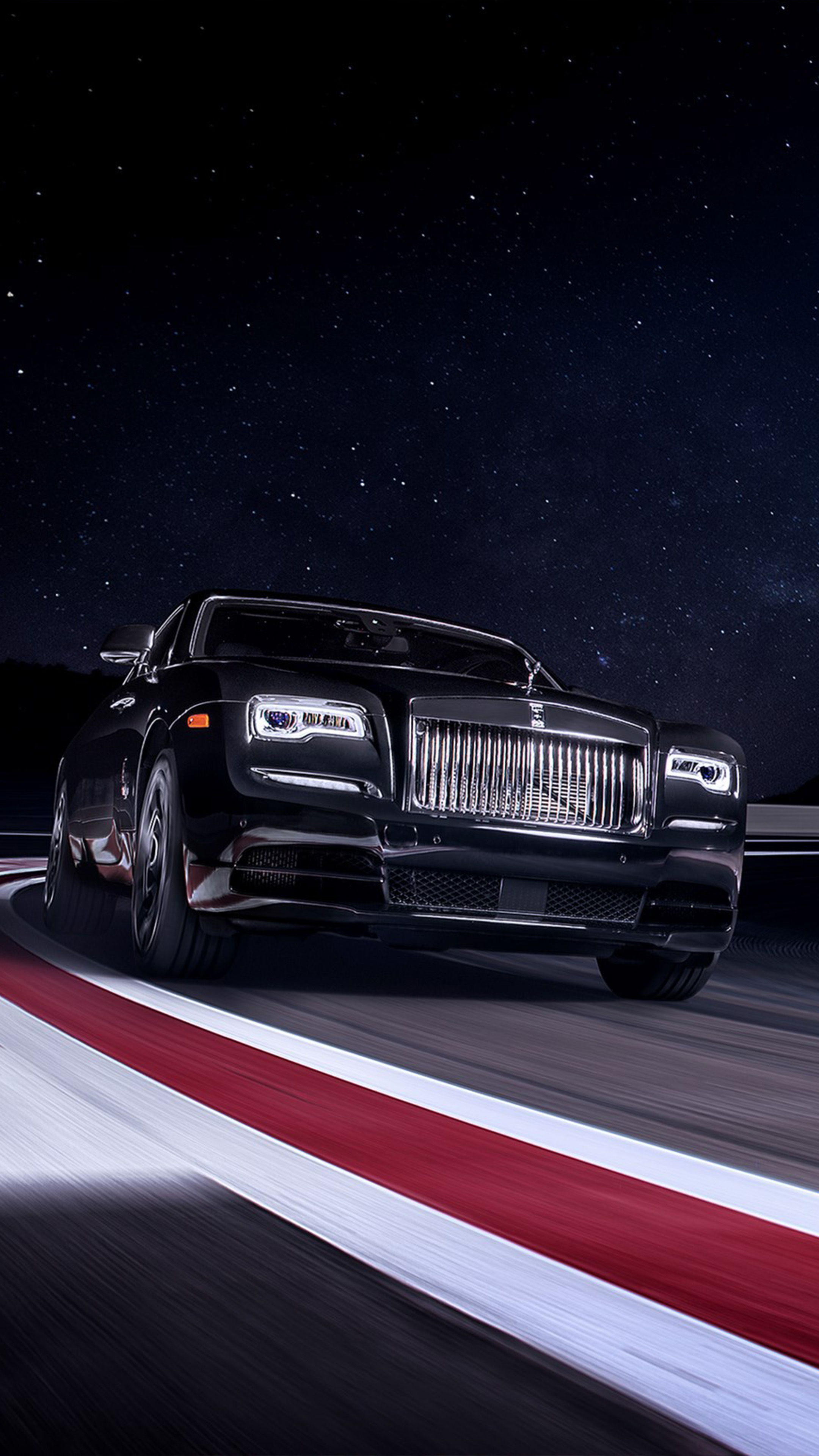 Download Rolls Royce Black Badge Wraith On Race Track Free Pure 4k