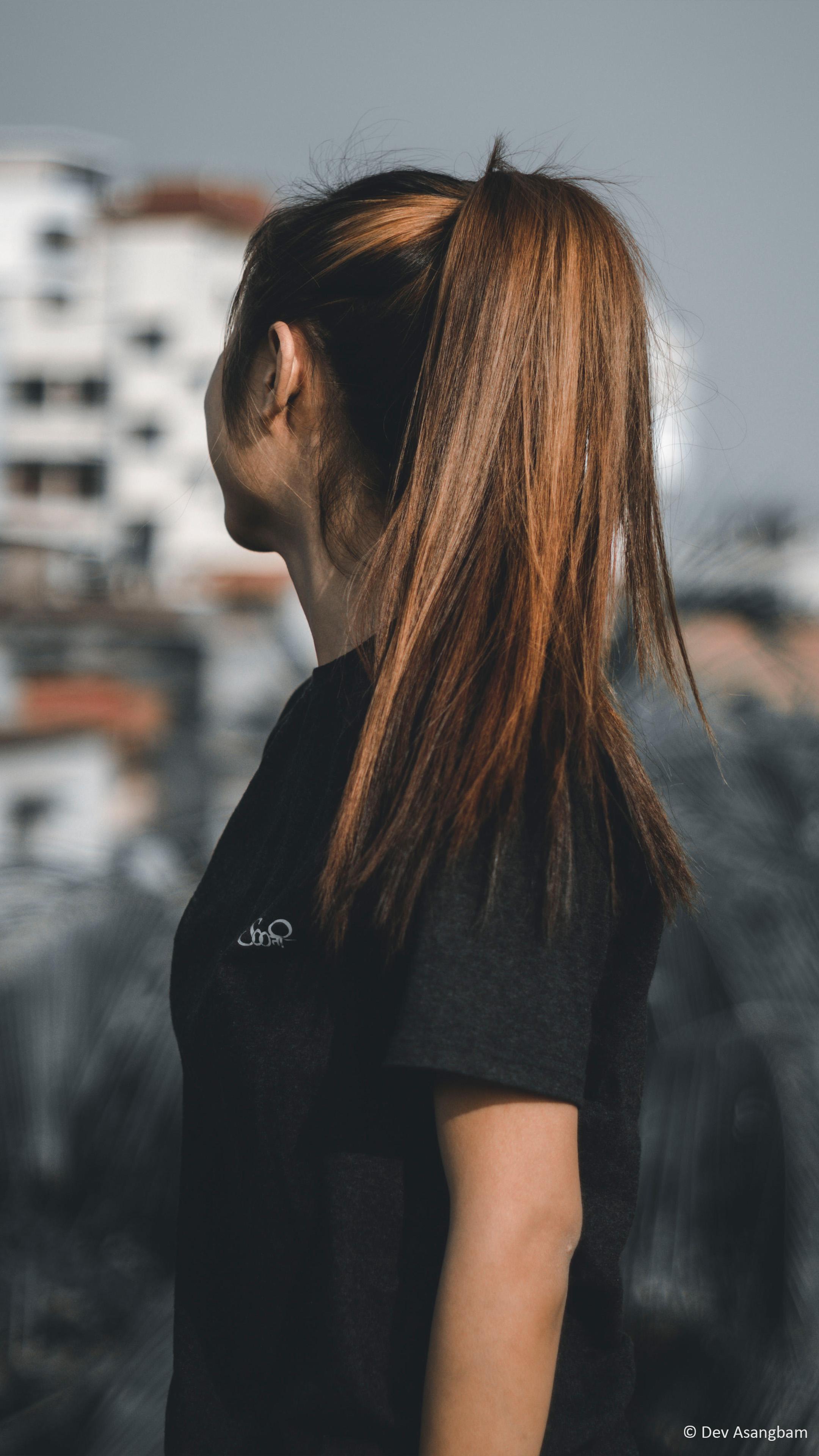 Girl Brown Hair Highlight Photography 4k Ultra Hd Mobile Wallpaper