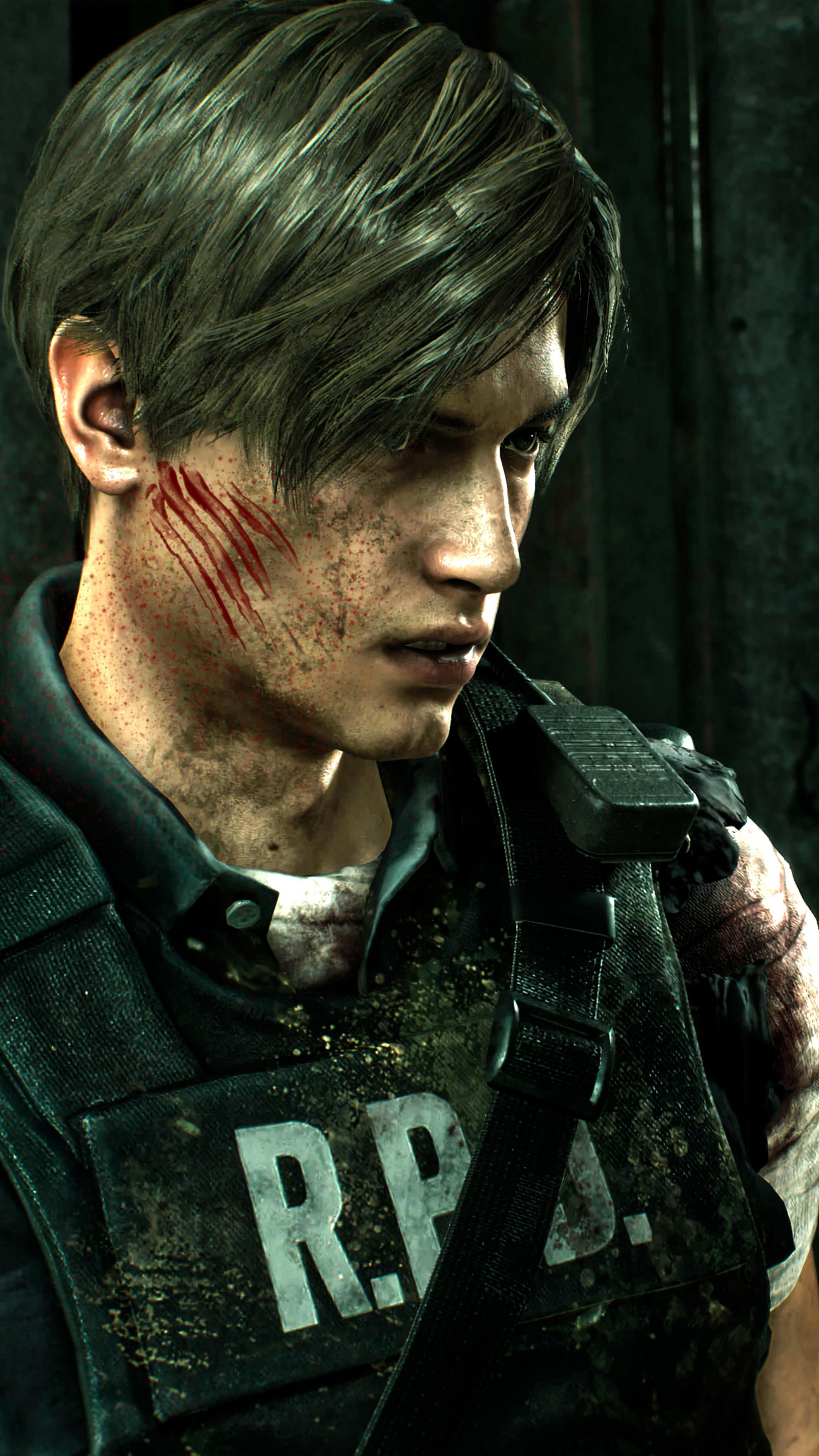 Leon S Kennedy Rpd Resident Evil 2 Free 4k Ultra Hd Mobile Wallpaper