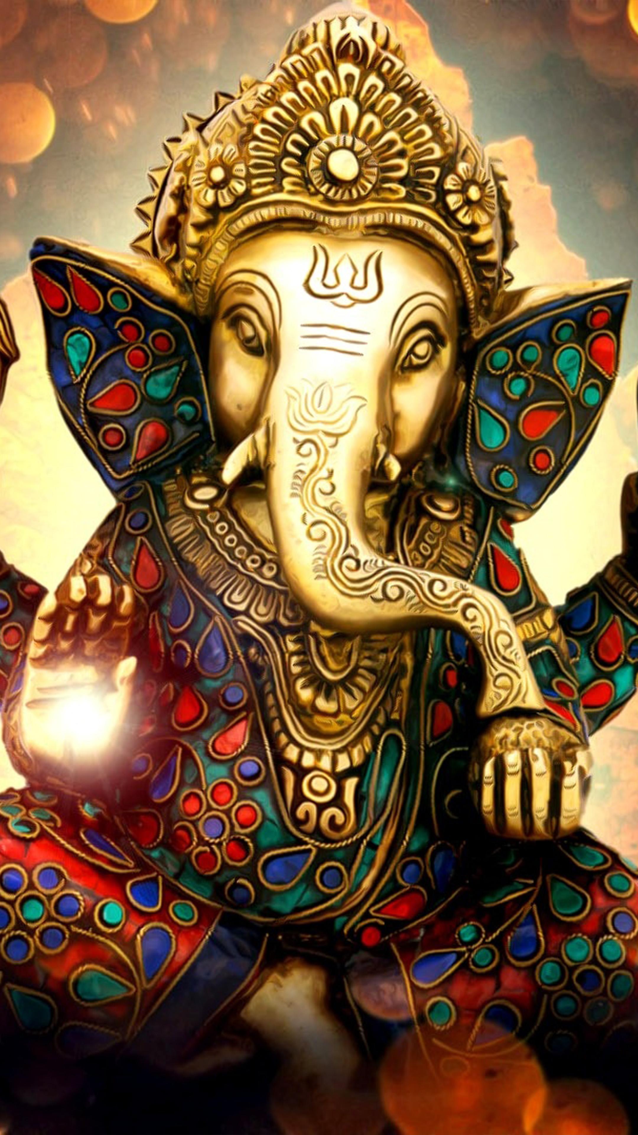 Lord Ganesha Ganapati Statue Idol 4k Ultra Hd Mobile Wallpaper