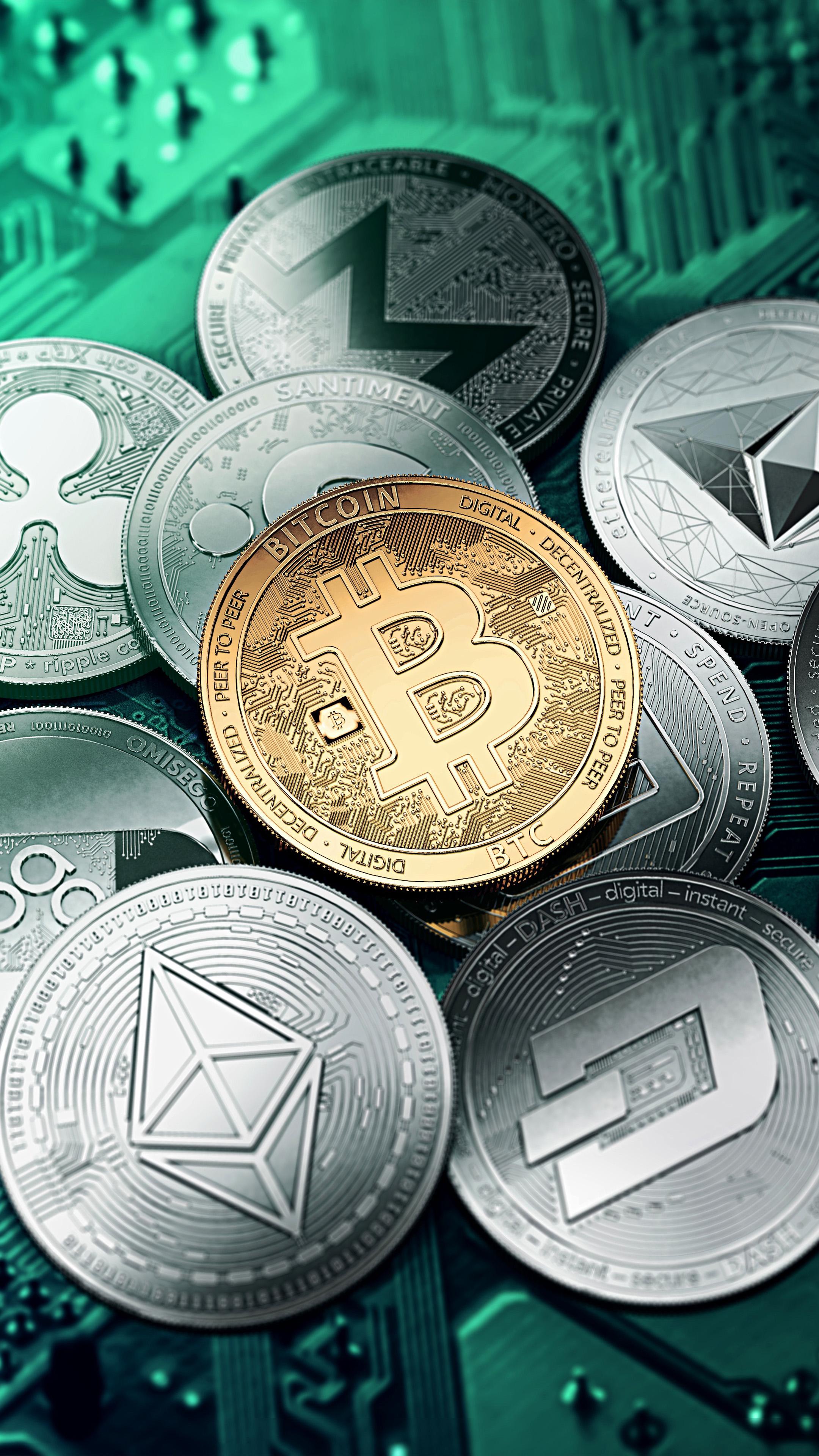 Bitcoin Digital Currencies Technology 4k Ultra Hd Mobile Wallpaper