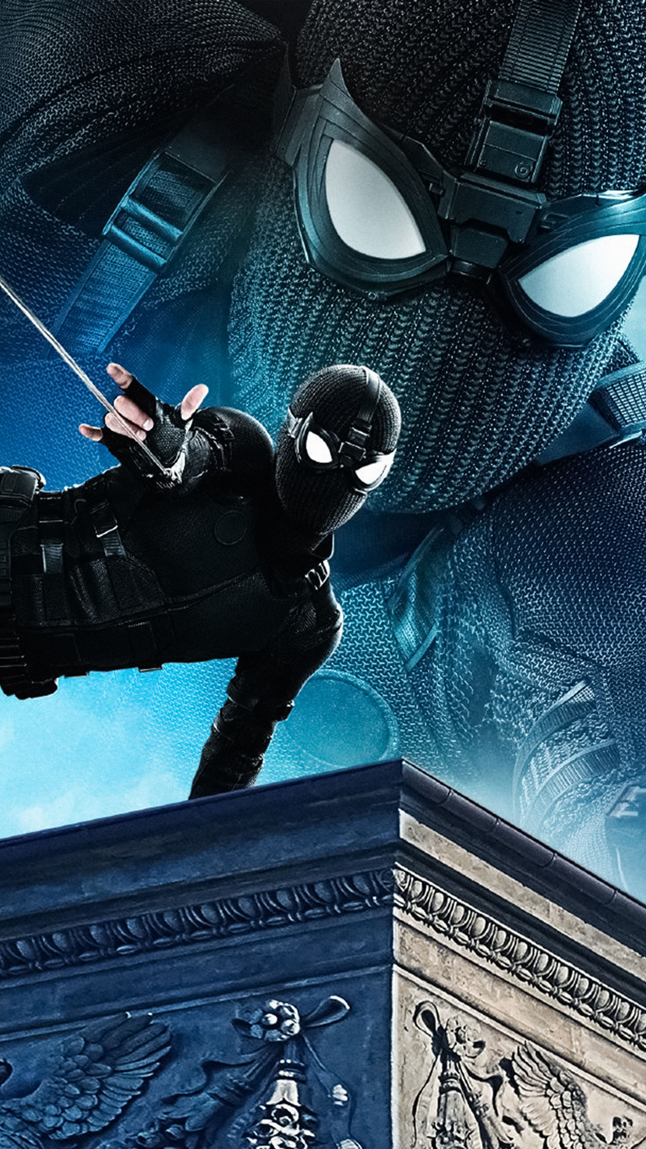 Black Suit Spider Man Far From Home 2019 4k Ultra Hd Mobile Wallpaper