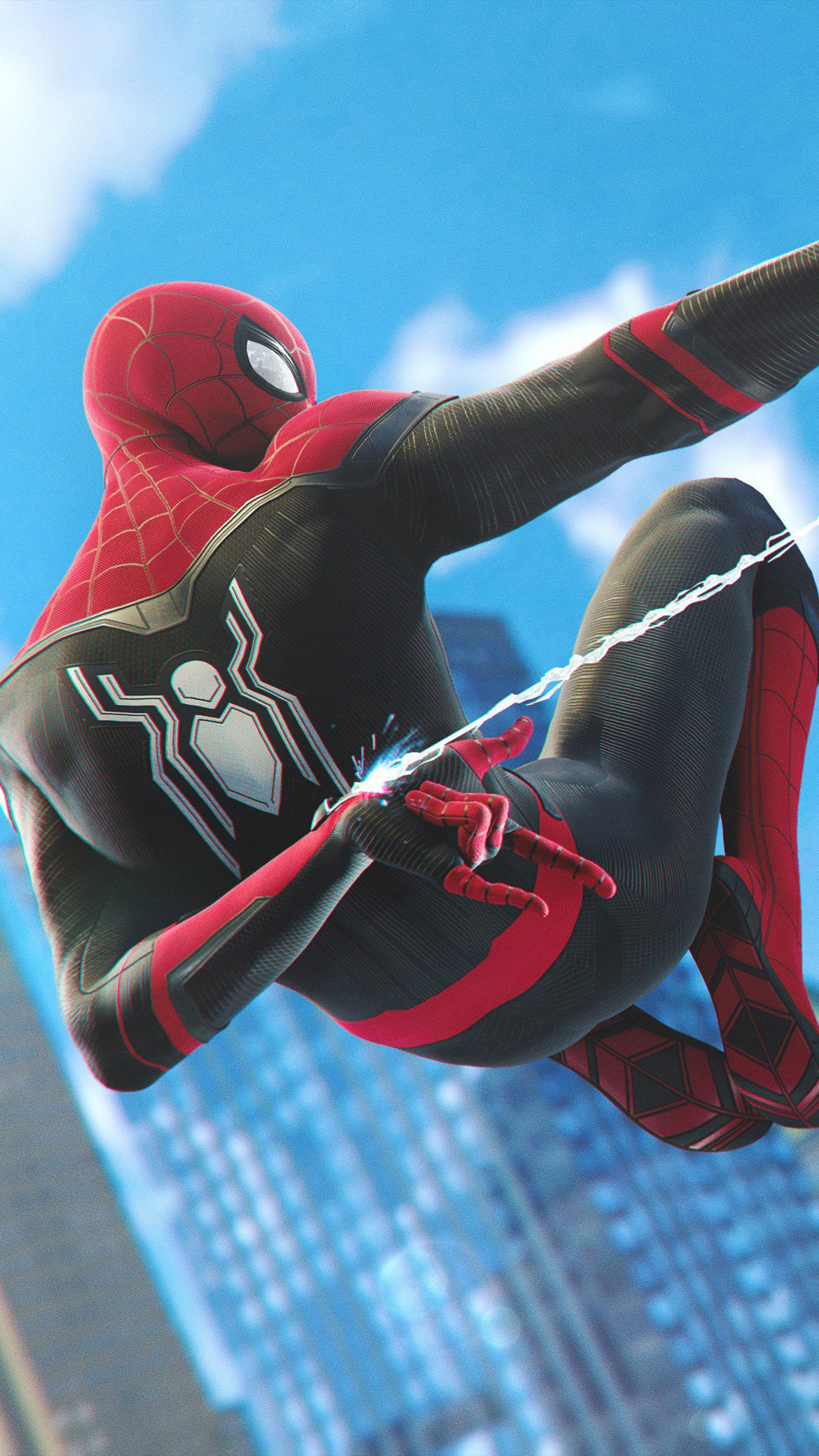 Spider Man Far From Home Ps4 Free 4k Ultra Hd Mobile Wallpaper