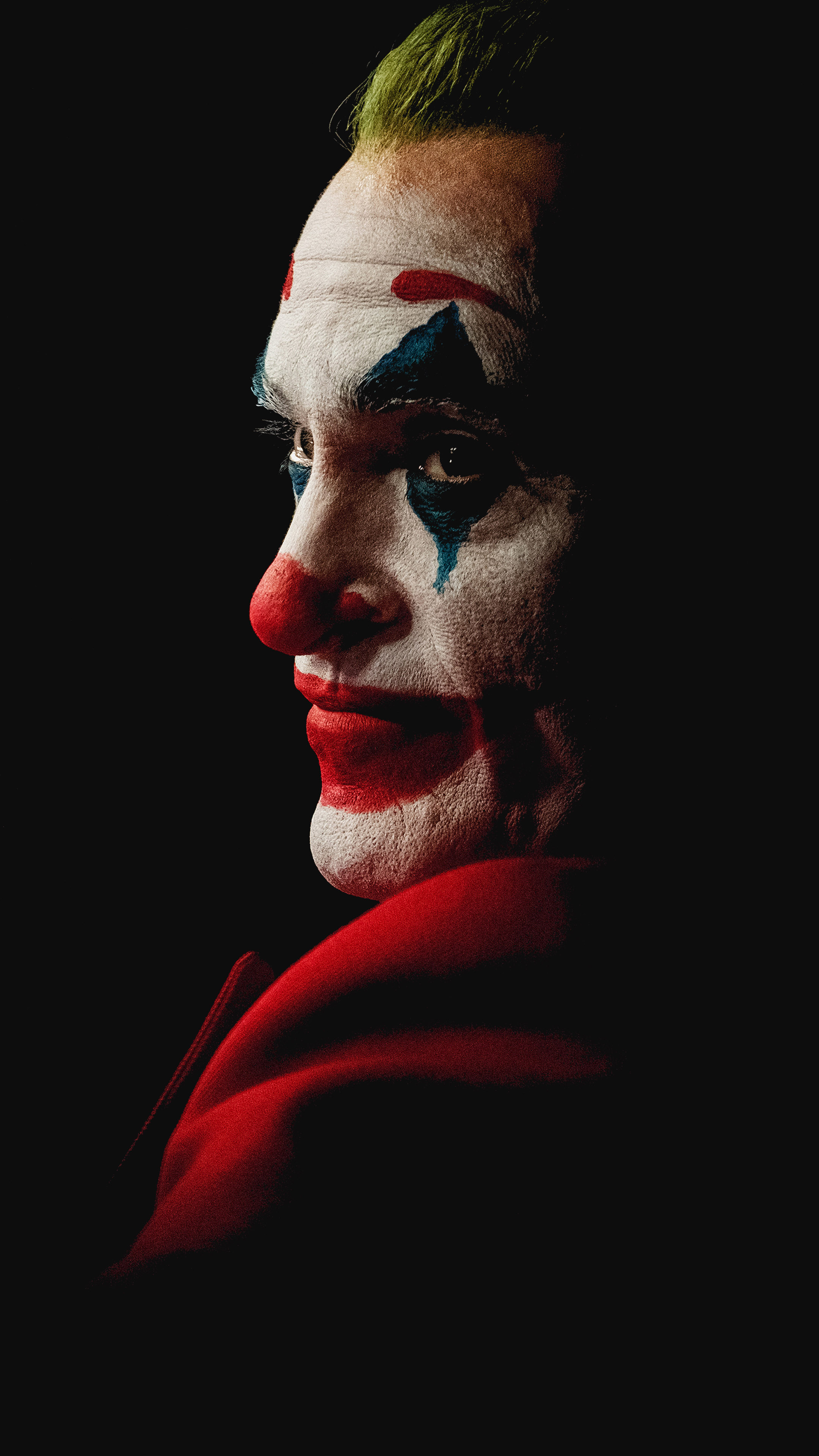 Joaquin Phoenix Joker Black Background 4k Ultra Hd Mobile Wallpaper