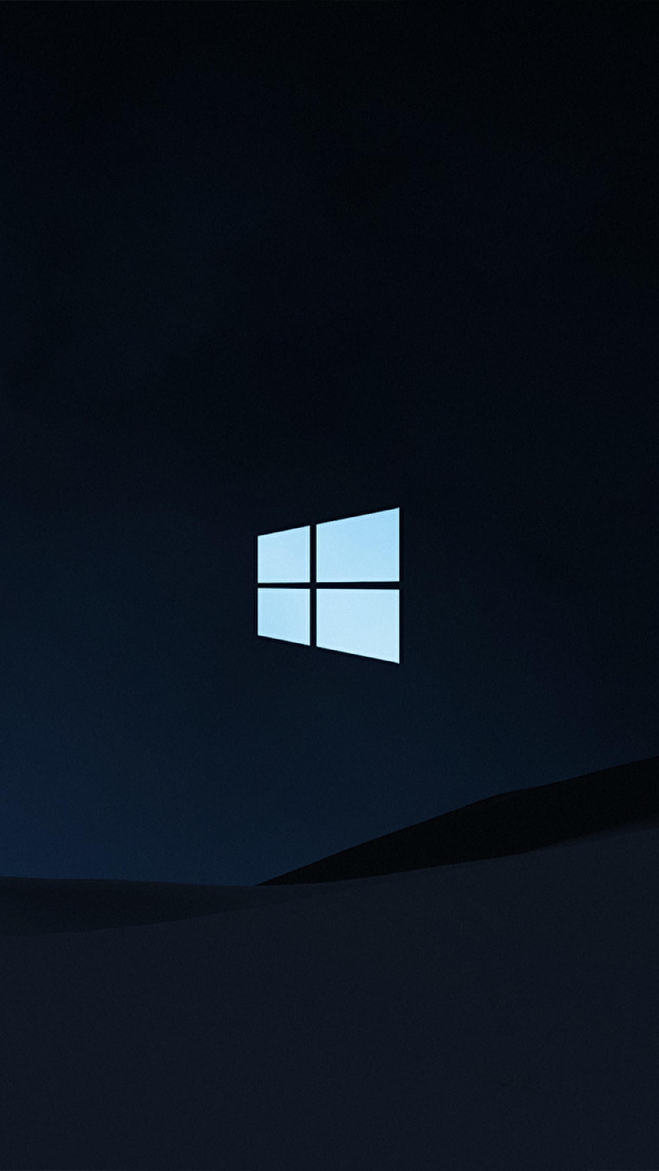 Windows 10 Logo Dark Background 4k Ultra Hd Mobile Wallpaper