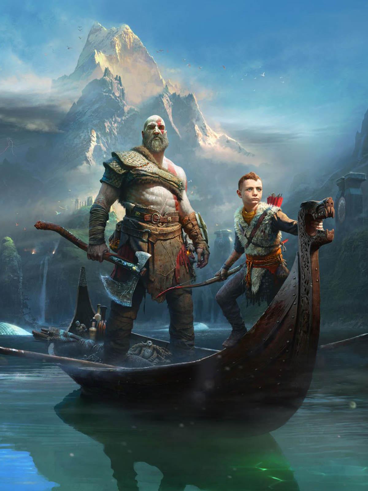 God Of War Kratos And Atreus Free 4k Ultra Hd Mobile Wallpaper