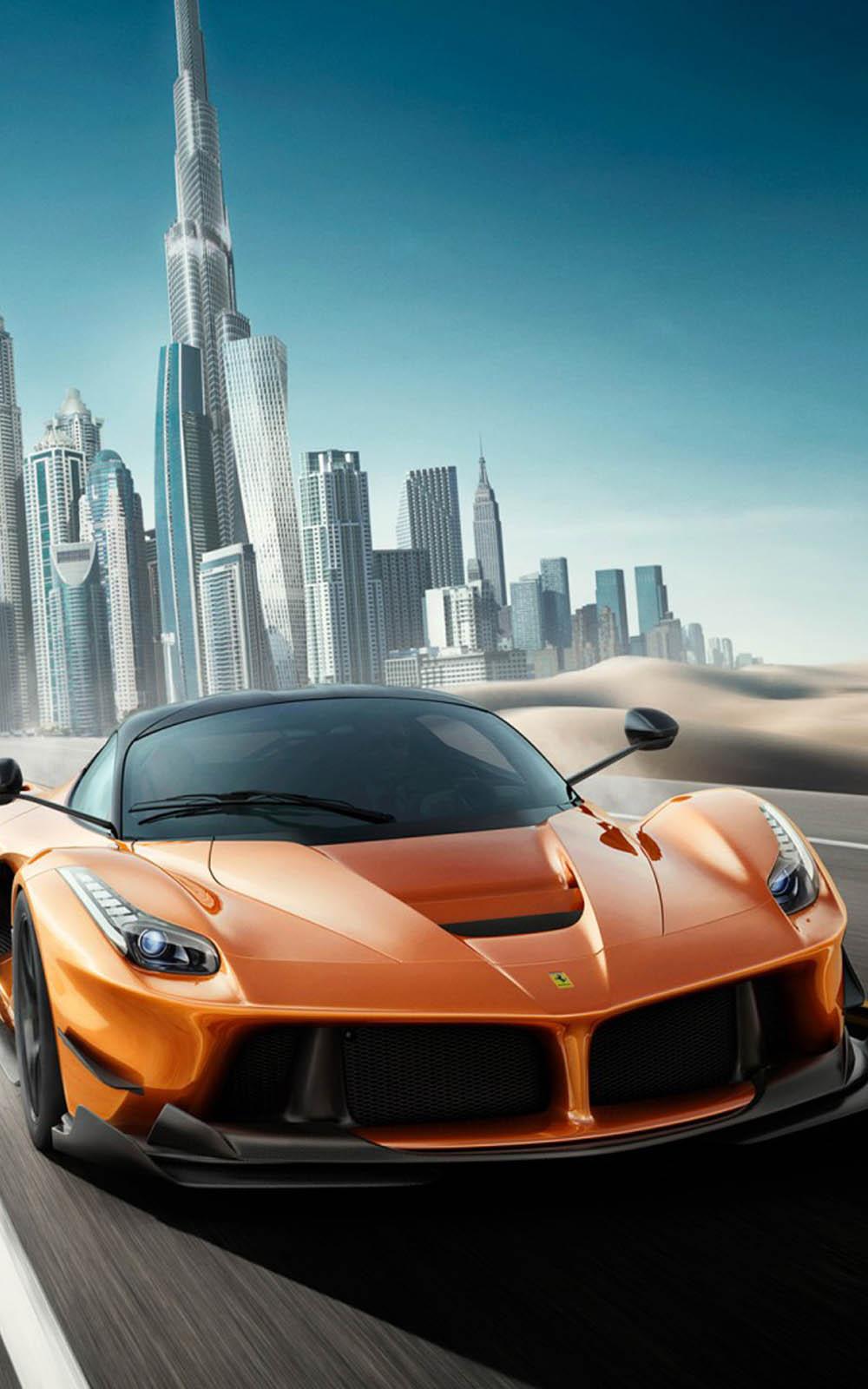 Download Speed Ferrari In Dubai Free Pure 4k Ultra Hd Mobile Wallpaper