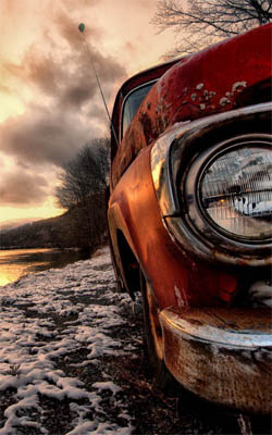Abandoned Car In River Side Download Free Hd Mobile Wallpapers