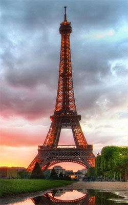 Eiffel Tower Sunset View Preview