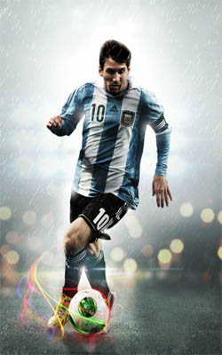 Messi Playing In Rain Preview