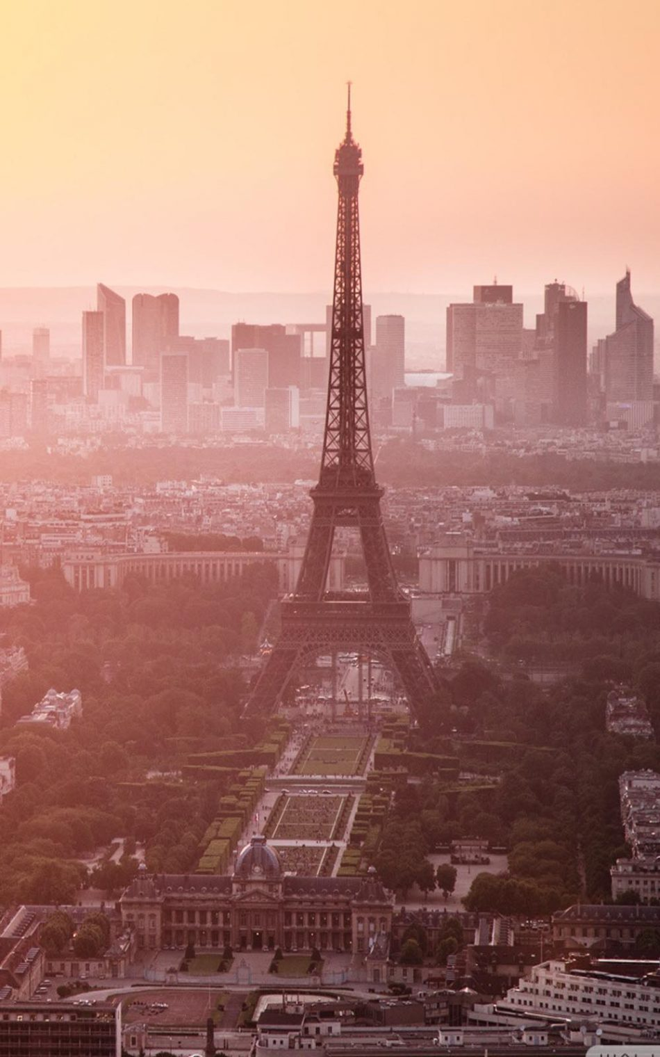 Morning View of Eiffel Tower