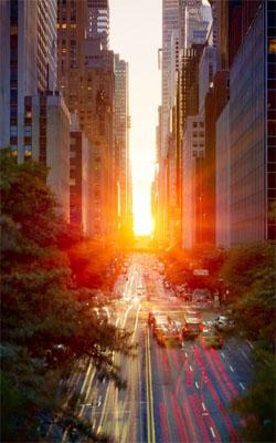 Sun Exposure Through City Preview