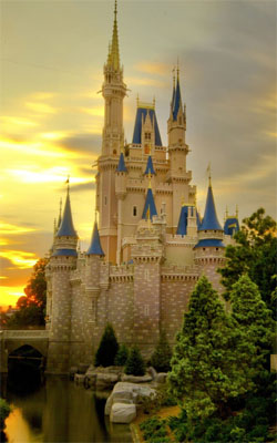 Sunset Over Cinderella Castle Preview