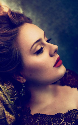 Adele Vogue Mobile Wallpaper Preview