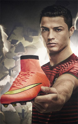 Cristiano Ronaldo Nike Mercurial Mobile Wallpaper Preview