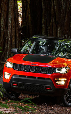 Jeep Red Compass Trailhawk Mobile Wallpaper Preview