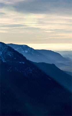 Misty Blue Mountains Mobile Wallpaper Preview