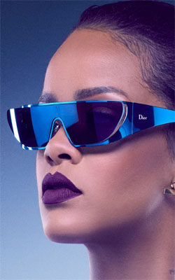 Rihanna Wearing Dior Mobile Wallpaper Preview