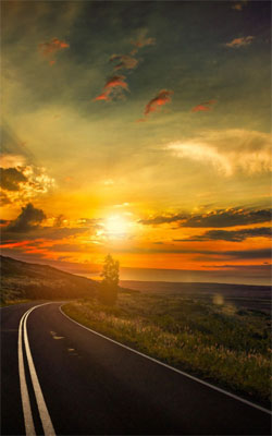 Sunset Highway Mobile Wallpaper Preview