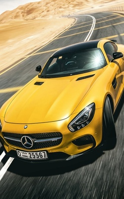 Yellow Mercedes Benz AMG GT S Mobile Wallpaper Preview