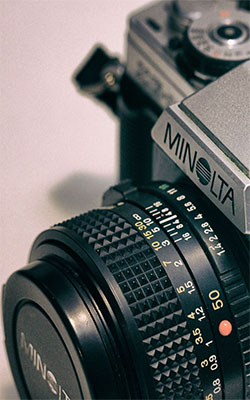 Minolta Camera Retro Mobile Wallpaper Preview