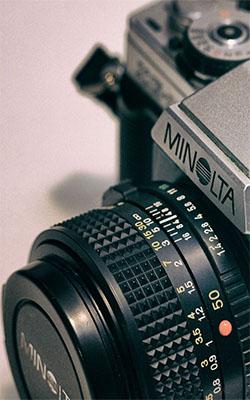 Minolta Camera Retro Mobile Wallpaper Preview