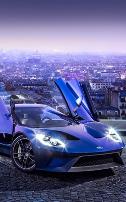 Ford GT City View Mobile Wallpaper Preview