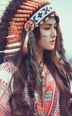Cute Native American Mobile Wallpaper Preview