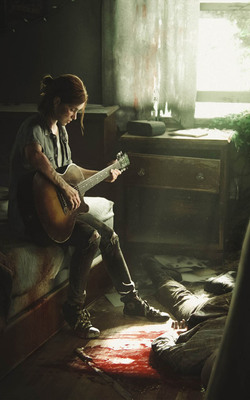 Ellie in The Last of Us 2 Mobile Wallpaper Preview