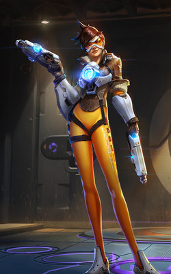 Tracer Heroes of The Storm Mobile Wallpaper Preview