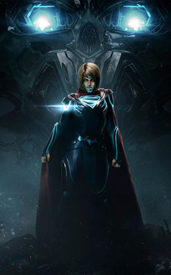Injustice 2 Supergirl Mobile Wallpaper Preview