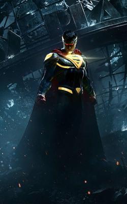 Injustice 2 Superman Mobile Wallpaper Preview