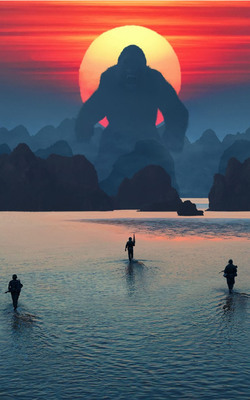 Kong Skull Island 2017 Movie Mobile Wallpaper Preview