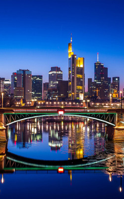 Night Frankfurt Germany Mobile Wallpaper Preview