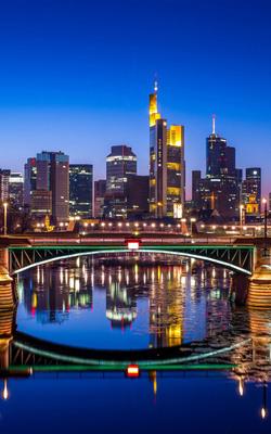 Night Frankfurt Germany - Download Free HD Mobile Wallpapers