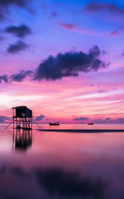 Remote Island Sunrise Mobile Wallpaper Preview