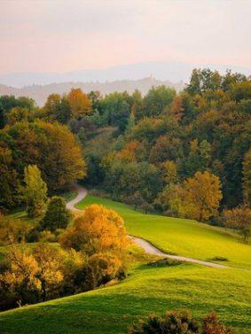 Autumn Hills Road Landscape HD Mobile Wallpaper Preview