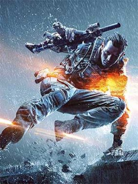 Battlefield Game Soldier In Action HD Mobile Wallpaper Preview