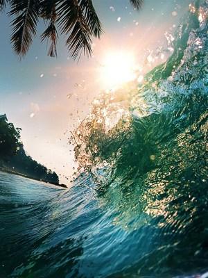 Beach Sea Waves Sunshine HD Mobile Wallpaper Preview