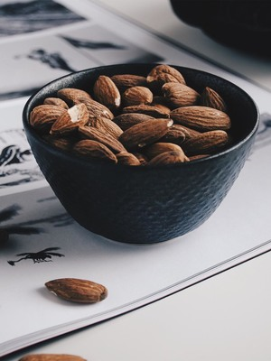 Bowl of Almonds Nuts HD Mobile Wallpaper Preview