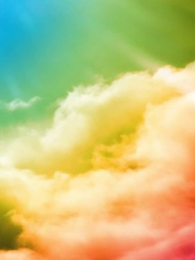 Colorful Rainbow Clouds HD Mobile Wallpaper Preview