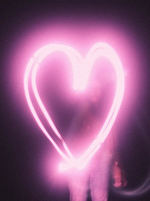 Heart Shape Pink Light HD Mobile Wallpaper Preview